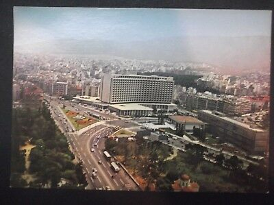 GREECE The Athens Hilton Hotel Greek PC Postcard REAL PHOTO CARD Griechenland #2