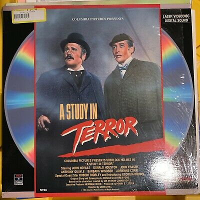 """A Study In Terror - 12"""" Laserdisc Buy 6 for free shipping"""