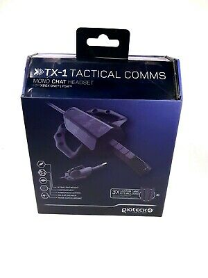 GIOTECK TX-1 TACTICAL Comms - Mono Game Chat Headset - PS4