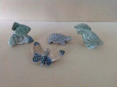 Wade Whimsies Fish, Turtle, Butterfly And Parrot
