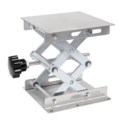 "4"" 6"" 8"" Stainless Steel Lab Stand Table Scissor Lift laboratory Jiffy Jack"