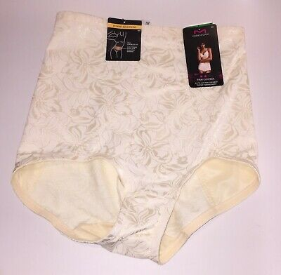 9ec3f06c361 NWT Maidenform Firm Control Tummy-Taming Brief Panty 6854 Ivory Size Large
