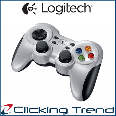 Wireless Gamepad Logitech F710 Gaming Controller Cordless PC Vibration Joystick