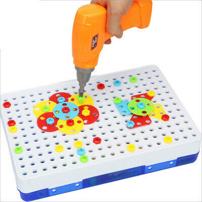 151Pcs Kid Drill Puzzle Toys DIY Screw Group Toys Children Tool Kit Jigsaw To Hj