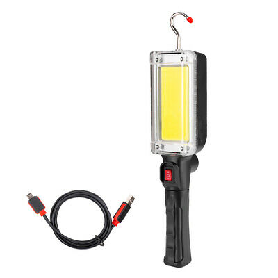Lot Multifunction Rechargeable COB LED Work Light Flod Flashlight Magnetic Torch