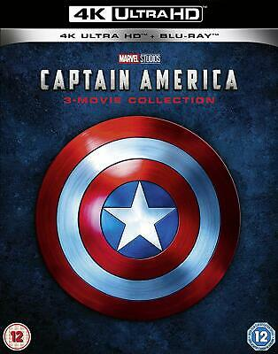CAPTAIN AMERICA 1-3 Movie Collection 4K Ultra HD + Blu-ray Marvel Trilogy New.