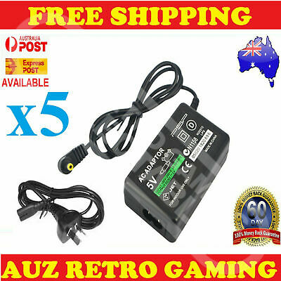 5x Charge Power Cable Cord Wall Charger for Sony PSP 1000 2000 3000 SLIM