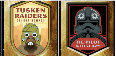 Topps Star Wars Card Trader GOLD Digital Patch Series Tusken & Tie Pilot 15cc