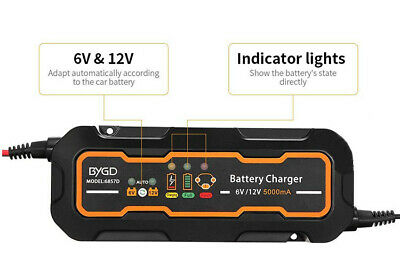 12V Battery Charger Maintainer 3A Car Trickle Automobile US / EU Plug