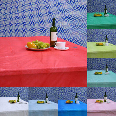 6609 Simple Table Cloth Plastic Disposable Party Table Runner Soft Table Cover
