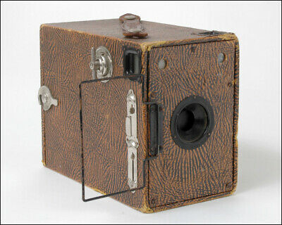 Houghton Butcher Box Ensign 2¼ B Camera - Brown Leather Grain Effect