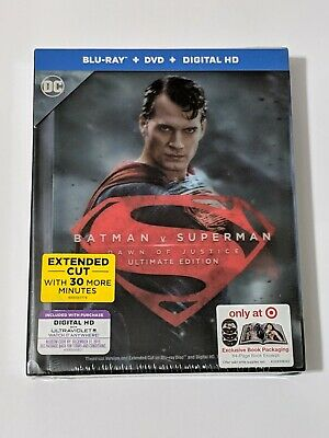 Batman v Superman: Dawn of Justice Digibook Target Exclusive Blu-ray, Digital HD