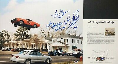 Catherine Bach Tom Wopat John Schneider Signed Dukes of Hazzard 16x20 Photo PSA