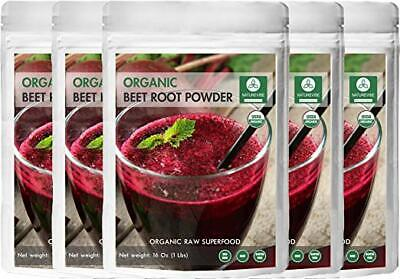 Organic Beet Root Powder (5 lbs - 5 Pack of 1 pound each), Raw & Non-GMO