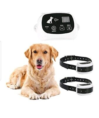 Wireless Electric Pet Fence Waterproof Rechargeable Containment 1 - 2 Dog System