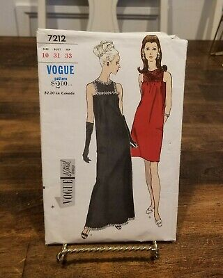 Vintage Vogue Special Design Pattern #7212 Evening Dress 1960's Size 10