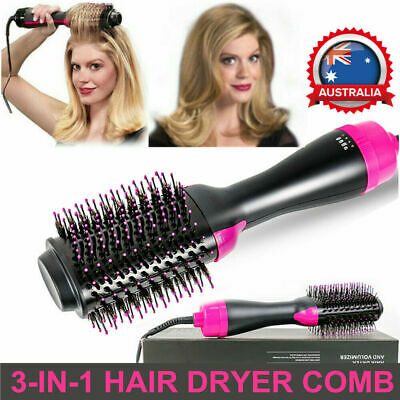 3 In 1 One Step Hair Dryer Comb and Volumizer Pro Brush Straightener Curler SU