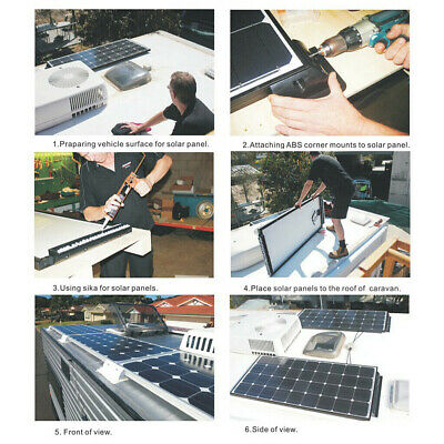 For Solar Panels RV Roof Yacht Deck Single Cable Junction Box Waterproof ABS