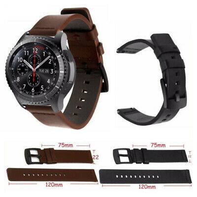 Genuine Leather Watch Band Strap For Samsung Gear S3 Frontier Classic 46mm Belt