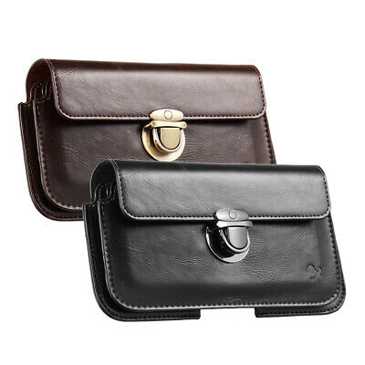 Horizontal Leather Case Cover Pouch Holste For Samsung / LG / iPhone Series