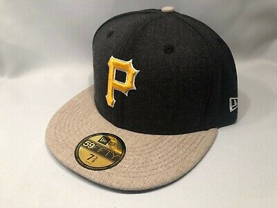 sports shoes aeb80 e1035 PITTSBURGH PIRATES HEATHER ACTION NEW ERA 59FIFTY MLB FITTED Cap Hat Size 7  3 8