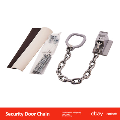 New Security Door Chain With Locking Ring Handle Restricting Amtech T1985