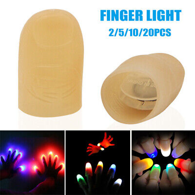 Party Magic Light Up Glow Thumbs Fingers Trick Appearing Light Close Up