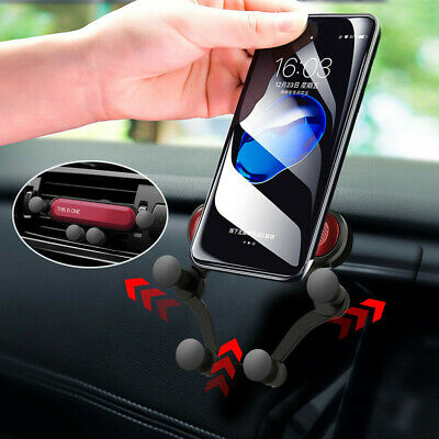 Gravity Car Phone Holder Air Vent Mount Stand for Mobile iPhone 8 X Samsung GPS