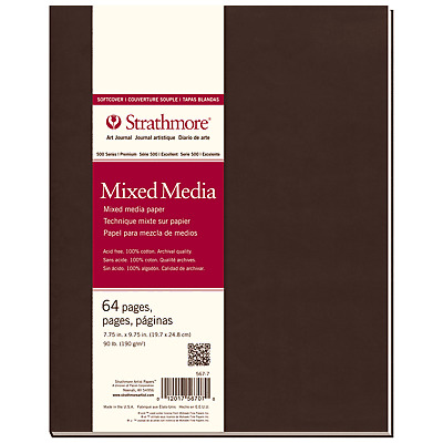 """Strathmore Softcover Mixed Media Art Journal 7.75X9.75"""" (567-7), 64 Count"""