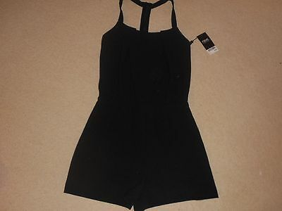 BNWT Next Black Summer Short Cat Suit / All-in-One Short Size 8 Dungaree Holiday