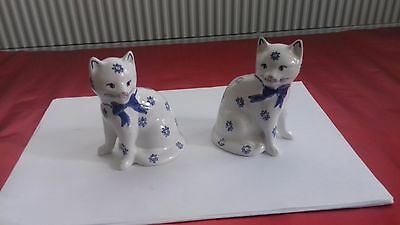 Cats -- 2 Lovely Collectable Ornamental Cats -- These Two Are Waiting For A Home