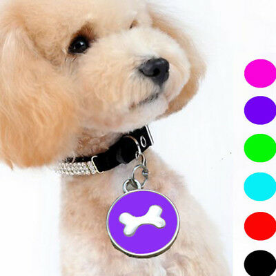 QA_ CN_ Fashion Pet Jewelry Gift Bone Shape Cat Dog Puppy ID Tag Collar Pendan