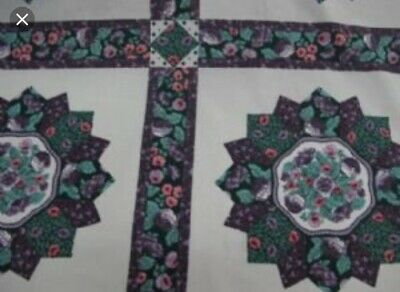 ***ON SALE***King Size Cheater Quilt Top Salem Star Purple 90 x 108 (3 Yards)