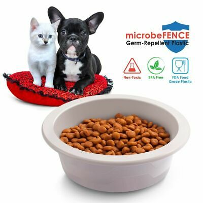 Fluffy Paws microbeFENCE Pet Dog Cat Feeding Bowl Food Feeder Container BPA Free