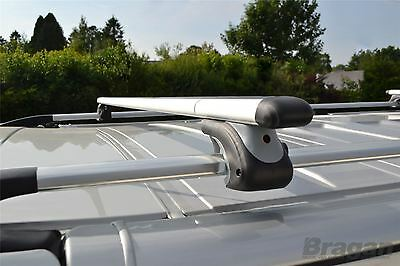 Pour 14 + ford Transit Connect Swb Aluminium Alliage Toit Rail + Cross Barres