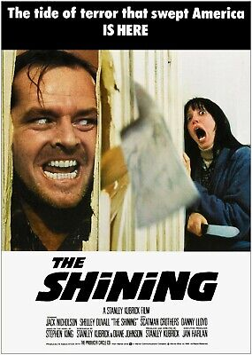 The Shining Vintage Classic Movie Large Poster Art Print Maxi A0 A1 A2 A3 A4