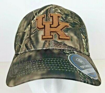 sports shoes a964d 1cdbf Kentucky Wildcats Mossy Oak Camo Top of the World OneFit Hat 3D Licensed NWT