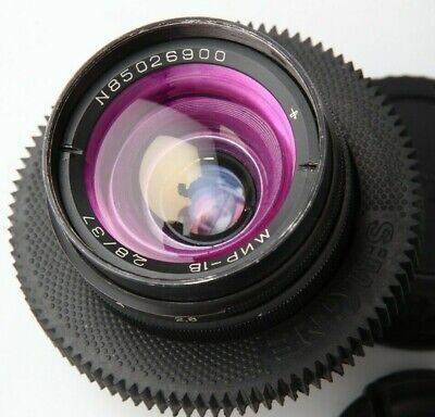 Anamorphic flare  Bokeh Lens 37 mm F2,8 Mir 1v 1b Cine CANON EF mount Wide Angle