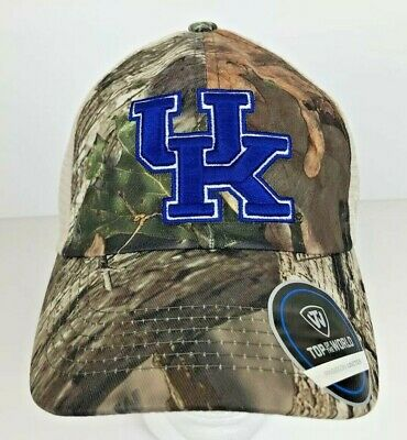 quality design 4c7c9 59e73 Kentucky Wildcats Top of the World Hat Mossy Oak Camo Mesh Back Adjustable  NWT