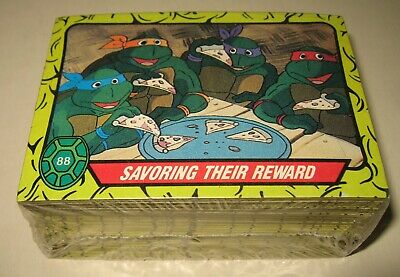 Complete Set of 88 Topps 1989 Teenage Mutant Ninja Turtle Trading Cards Cartoon