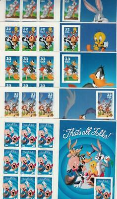 Complete Set Of  5  Looney Toons Sheets  3137 3204 3306 3391 3534  Mnh
