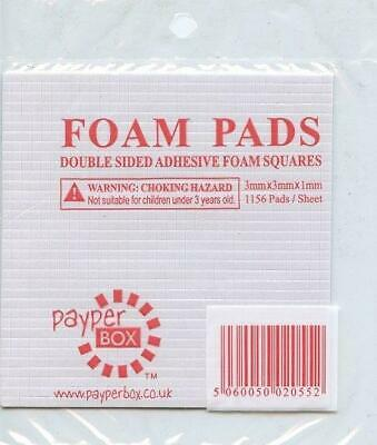 DOUBLE SIDED  ADHESIVE FOAM PADS. 3X3X1mm