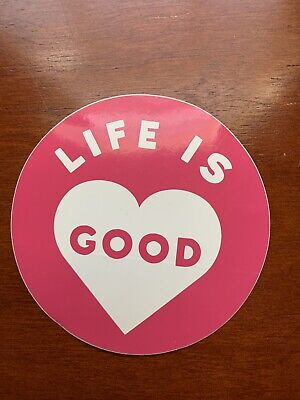 """NEW LIFE IS GOOD 4/"""" STICKER DECAL....PINK HEART!!"""