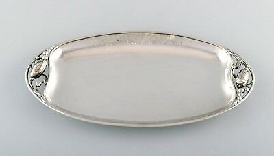 "Georg Jensen ""Blossom"" large bread tray in sterling silver. 2 pieces in stock."