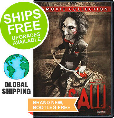 Saw 7 Movie Complete Collection Box Set, 1 2 3 4 5 6 7 (Unrated DVD) NEW