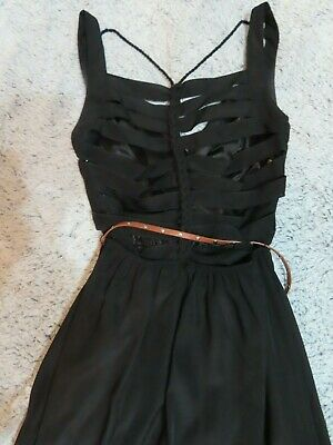 4b5f992b2153 Women's JCPenny Dress Black Size Small Semi Formal Slitted Back & Braided  Detail