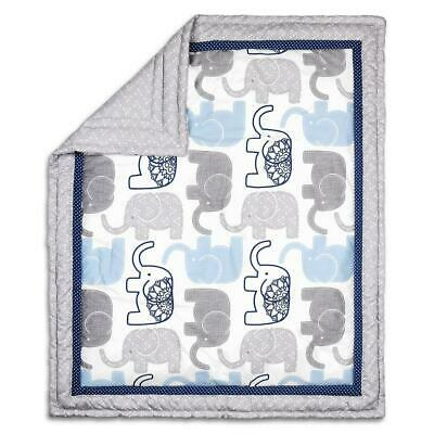 The Peanut Shell Quilt (Navy Elephant) Free Shipping!
