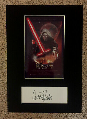 Star Wars - Special Ltd Edition JEDI Mini Movie Poster & Carrie Fisher Autograph