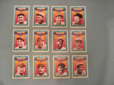 Twelve (12) Sets 1992 St Vincent HOF Heroes Stamps Cards Ruth Paige Cobb Wagner