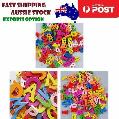 Coloured Numbers Alphabet Wooden Letters Wood Lettering Scrabble Kids Learning